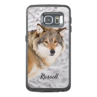 Kundenspezifischer Wolf in einem Winterwald, der