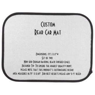 Kundenspezifisches Auto-Matten-(hinteres) Set von Autofußmatte