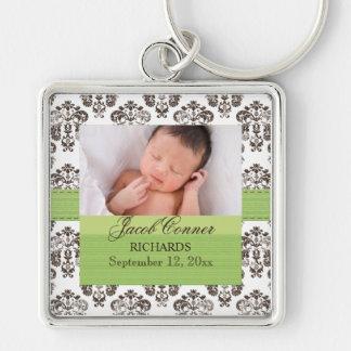 Kundenspezifisches Baby-Damast-Foto Keychain Schlüsselanhänger
