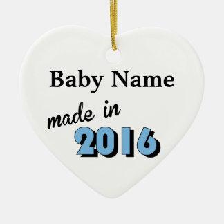 Kundenspezifisches Baby machte im Jahre 2016 Blau Keramik Ornament