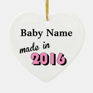 Kundenspezifisches Baby machte im Jahre 2016 Rosa Keramik Ornament
