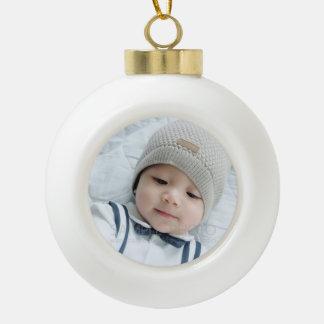 Kundenspezifisches Foto Keramik Kugel-Ornament