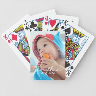 Kundenspezifisches Foto mit Namen und Datum Bicycle Spielkarten