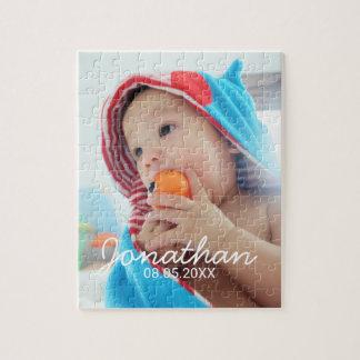 Kundenspezifisches Foto mit Namen und Datum Puzzle