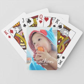 Kundenspezifisches Foto mit Namen und Datum Spielkarten