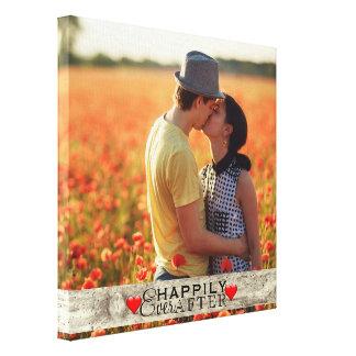 Kundenspezifisches Foto rustikales Wedding Leinwanddruck