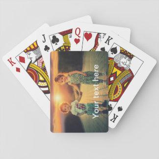 Kundenspezifisches Foto und Text Spielkarten