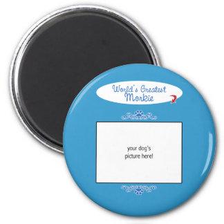 Kundenspezifisches Foto! Weltbestes Morkie Runder Magnet 5,7 Cm