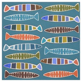 Kundenspezifisches Gewebe des Fisch-Musters Farb Stoff