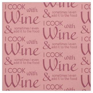 Kundenspezifisches Gewebe des Wein-Zitats Farb Stoff