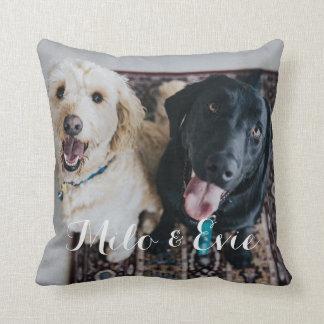 Kundenspezifisches Haustier-Foto-modernes Kissen