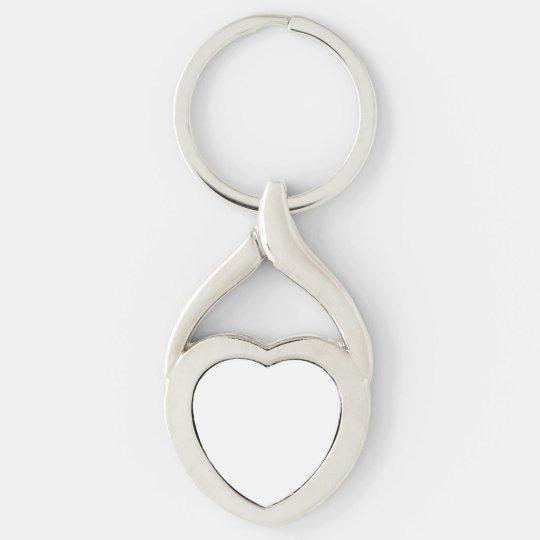 Herzform Metal Keychain