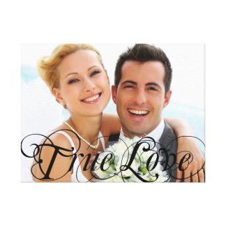 Kundenspezifisches Hochzeits-Foto-Andenken-wahre Gespannte Galerie Drucke