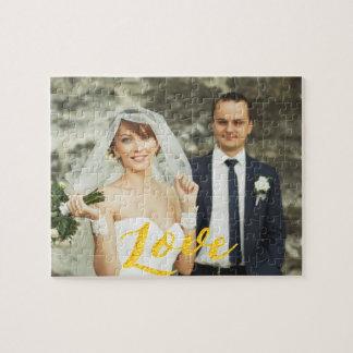 Kundenspezifisches Hochzeits-Foto der Liebe Puzzle