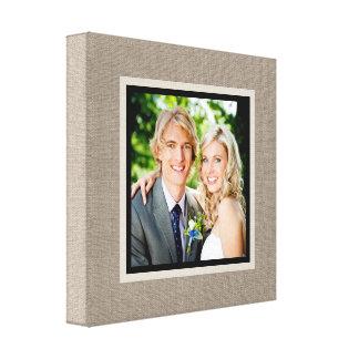 Kundenspezifisches Hochzeits-Foto eingewickelte Leinwanddruck