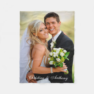 Kundenspezifisches Hochzeits-Foto Fleecedecke