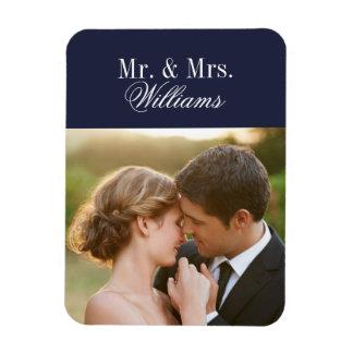 Kundenspezifisches Hochzeits-Foto-Monogramm Magnet