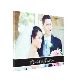 Kundenspezifisches Hochzeits-Foto-personalisierte Leinwanddruck