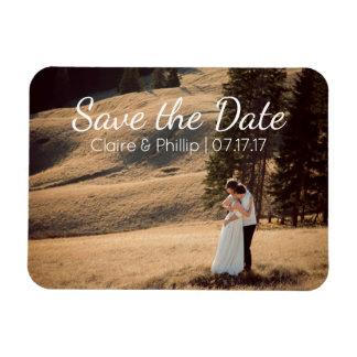 Kundenspezifisches Hochzeits-Foto   Save the Date Recchteckiger Magnet