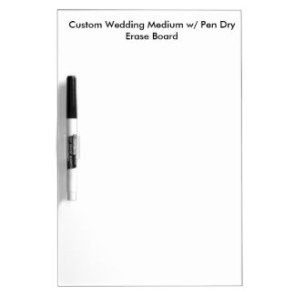 Kundenspezifisches Hochzeits-Medium mit Whiteboard