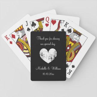 Kundenspezifisches Hochzeits-Party danken Ihnen, Spielkarte