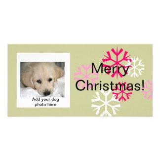 Kundenspezifisches HundeweihnachtsFoto kardiert Photokarte