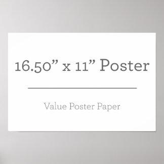 Kundenspezifisches kleines Extraplakat Poster