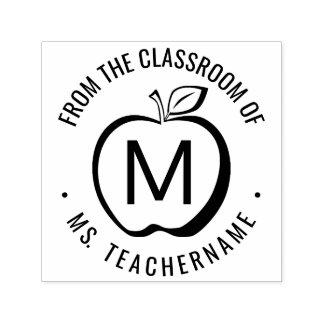 Kundenspezifisches Lehrer-Klassenzimmer-Monogramm Permastempel