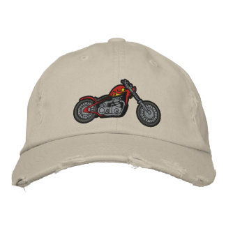 Kundenspezifisches Motorrad gestickter Hut Bestickte Baseballkappe