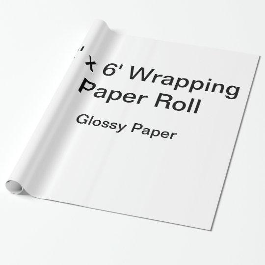 Glänzendes Geschenkpapier, 76,2 cm x 1,8 m