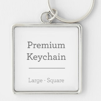 Kundenspezifisches quadratisches Keychain Silberfarbener Quadratischer Schlüsselanhänger