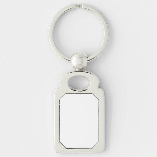 Rechteck Metal Keychain
