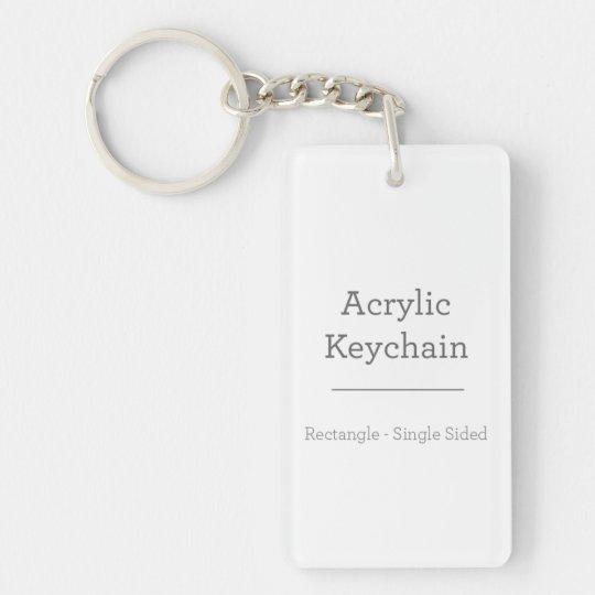 Rechteckig (einseitig) Schlüsselanhänger