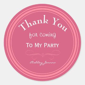 Kundenspezifisches Rosa danken Ihnen Aufkleber