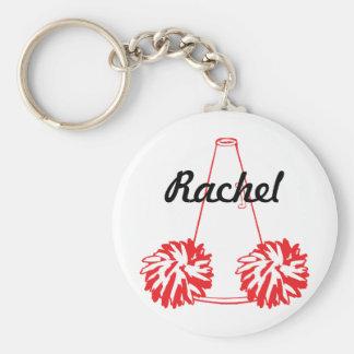 Kundenspezifisches Rot-Cheerleading Schlüsselkette Schlüsselanhänger