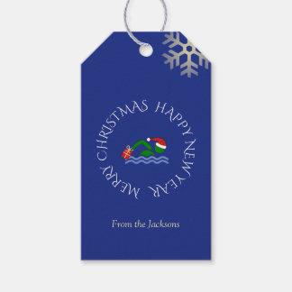 Kundenspezifisches Textblau des Geschenkanhänger