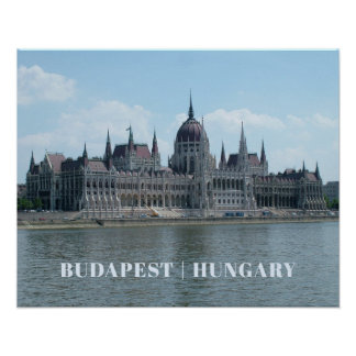 Kundenspezifisches Textplakat 3 Budapests Poster