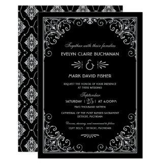 Kunst-Deko-Art der Hochzeits-Einladungs-| Karte