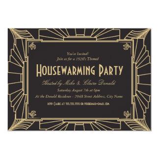 Kunst-Deko-Arthousewarming-Party Einladung