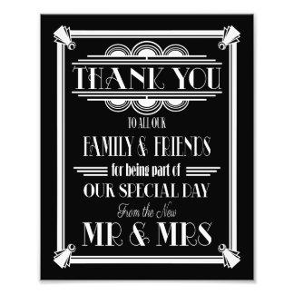Kunst-Deko, danke zu unterzeichnen, wedding Fotodruck