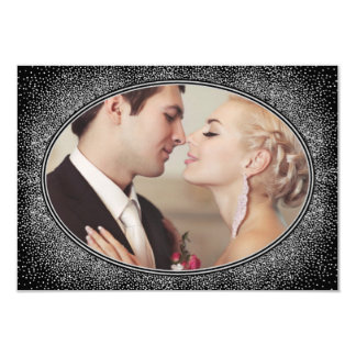Kunst-Deko-danken Vintage Foto-Hochzeit Ihnen 8,9 X 12,7 Cm Einladungskarte