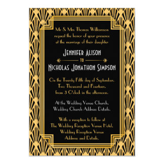 Kunst-Deko-geometrische Diamant-Muster-Hochzeit 12,7 X 17,8 Cm Einladungskarte