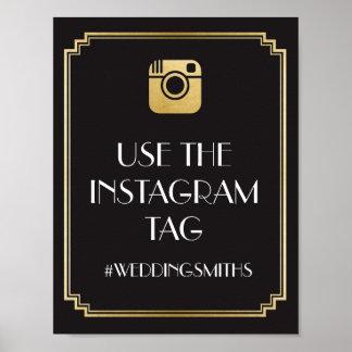 Kunst-Deko Instagram Bar-Zeichen-Hochzeits-Empfang Poster