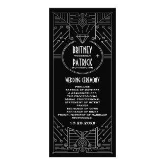 Kunst-Deko-Vintage schwarze und silberne Werbekarte