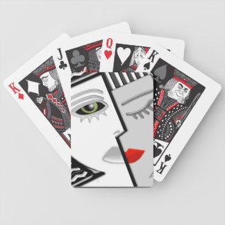 Kunst-Deko Zwei-Gesichtiger Janus Spielkarten