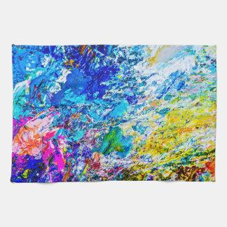 Kunst der Farbpalette Handtuch