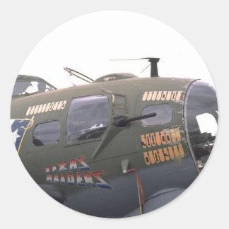 Kunst der Nase B-17 Runder Aufkleber