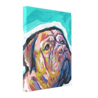 Kunst Dogue de Bordeaux Pop auf Stretched Leinwand Gespannter Galeriedruck