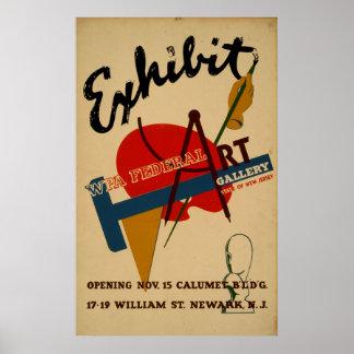 Kunst-Galerie-Ausstellung New-Jersey Vintages WPA Poster