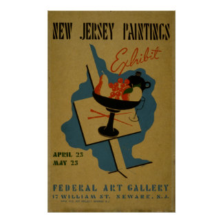 Kunst-Galerie-New-Jersey Vintages WPA Plakat
